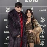 Palomo Spain y María Escoté en Los 40 Music Awards 2018