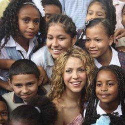 Shakira en Barranquilla durante la presentación de dos proyectos educativos