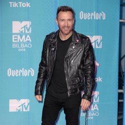 David Guetta en la alfombra de los MTV EMAs 2018 de Bilbao