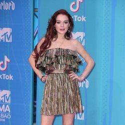 Lindsay Lohan en la alfombra de los MTV EMAs 2018 de Bilbao