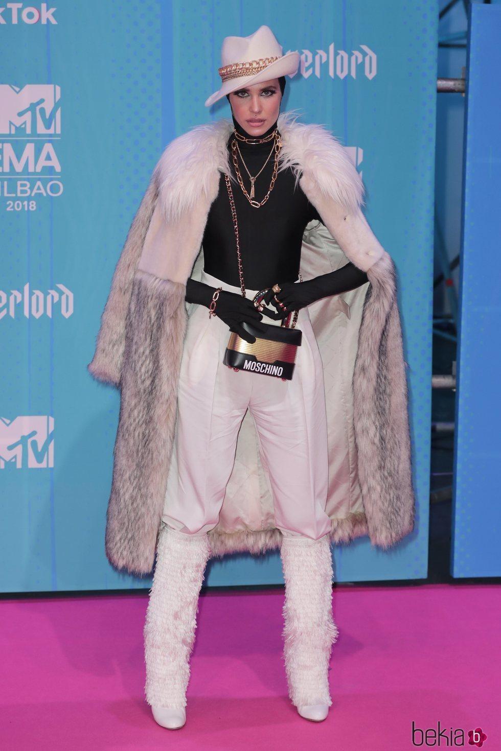 Brisa Fenoy en la alfombra de los MTV EMAs 2018 de Bilbao