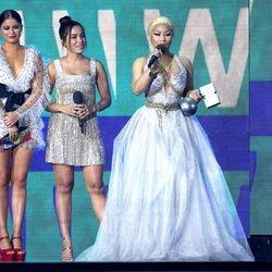 Sofía Reyes, Anitta y Nicki Minaj en la gala de los MTV EMAs 2018 de Bilbao
