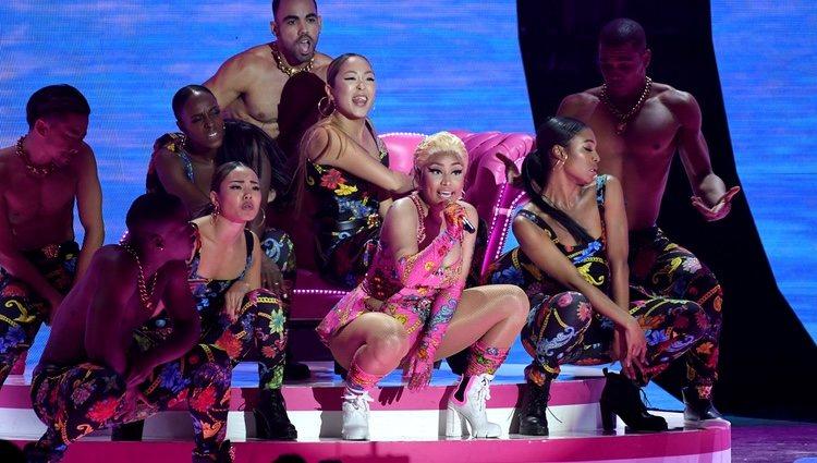 Nicki Minaj actuando en los MTV EMAs 2018 de Bilbao