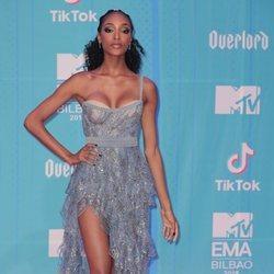 Jourdan Dunn en la alfombra de los MTV EMAs 2018 de Bilbao