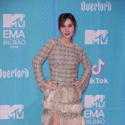 Nadia de Santiago en la alfombra de los MTV EMAs 2018 de Bilbao