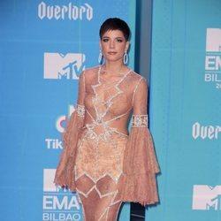 Halsey en la alfombra de los MTV EMAs 2018 de Bilbao