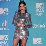 Dulceida en la alfombra de los MTV EMAs 2018 de Bilbao