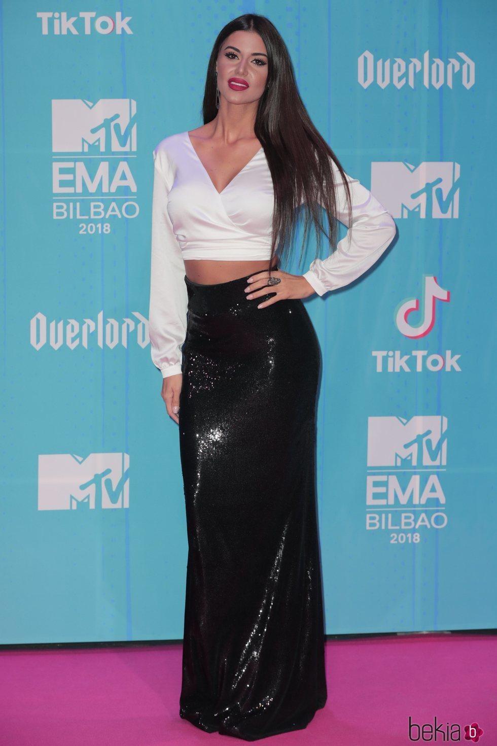 Ionna Bella en la alfombra de los MTV EMAs 2018 de Bilbao