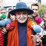 Lucía Bosé acudiendo a un juicio por un cuadro de Picasso