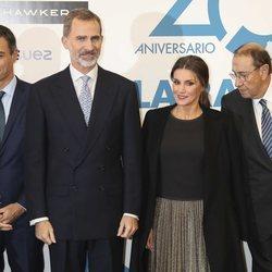 Los Reyes Felipe y Letizia en el XX aniversario de La Razón