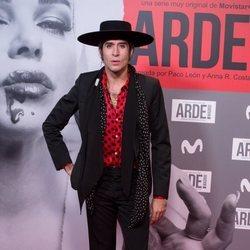 Mario Vaquerizo en el estreno de 'Arde Madrid'