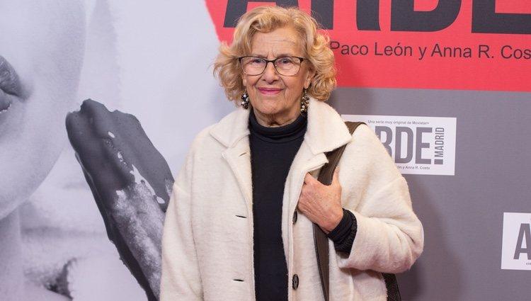 Manuela Carmena en el estreno de 'Arde Madrid'
