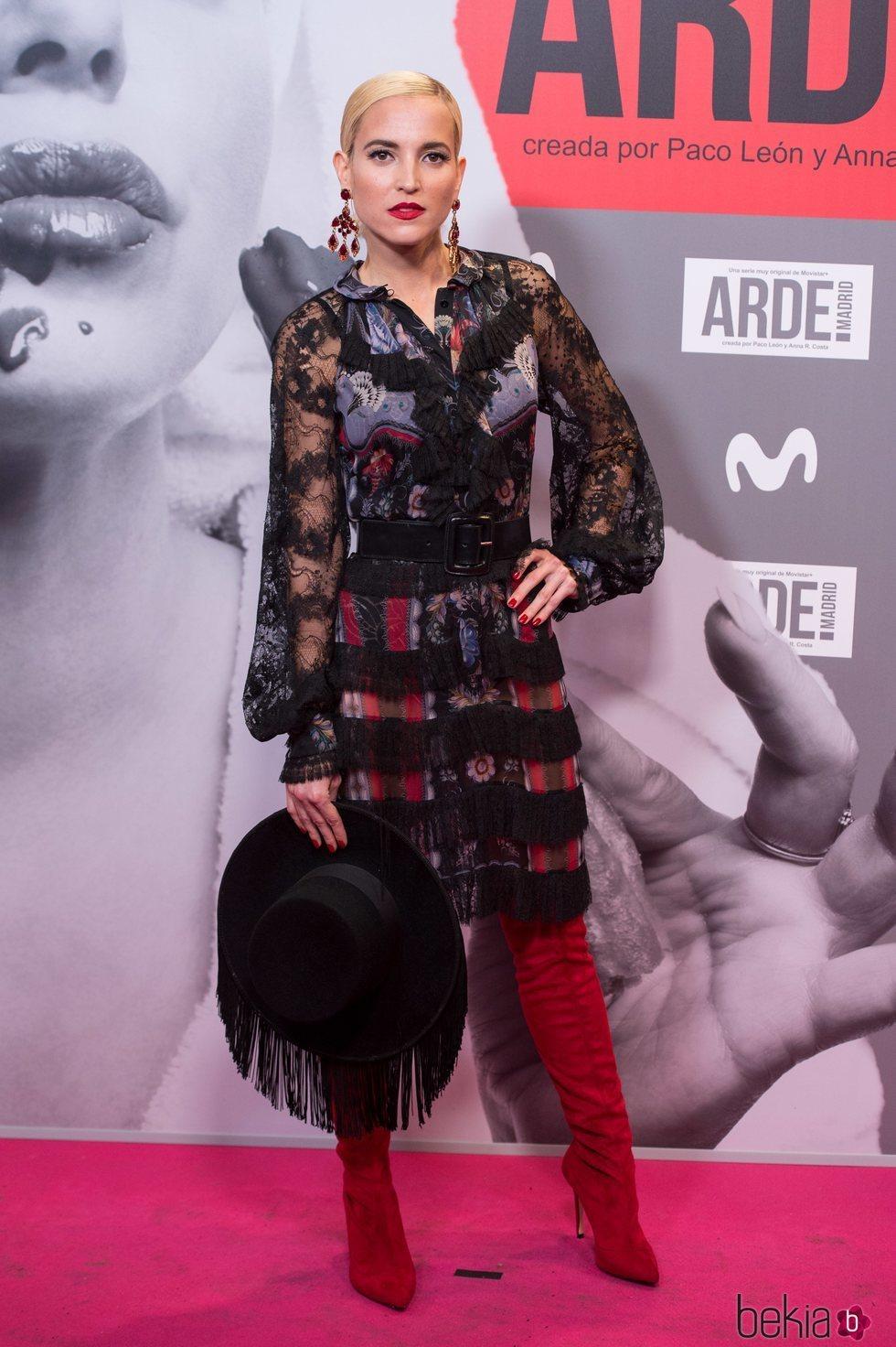 Ana Fernández en el estreno de 'Arde Madrid'