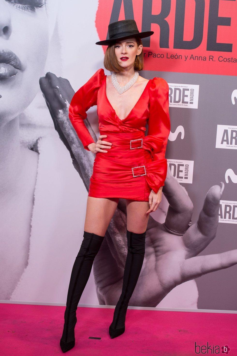 Ana Polvorosa en el estreno de 'Arde Madrid'
