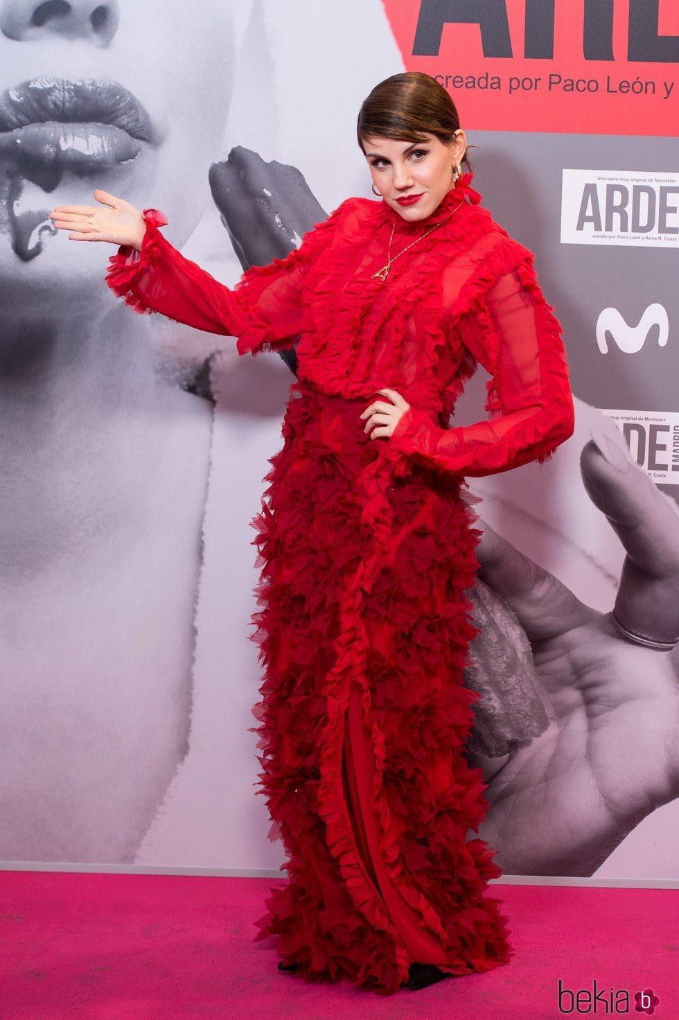 Angy en el estreno de 'Arde Madrid'