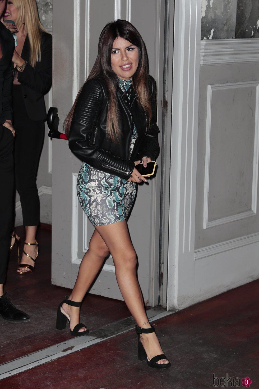 Chabelita Pantoja llegando a su fiesta de 23 cumpleaños