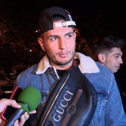 Omar Montes llegando a la fiesta del 23 cumpleaños de Chabelita Pantoja