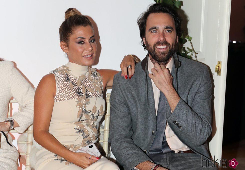 Elena Tablada y Javier Ungría en un evento de vestidos de novia