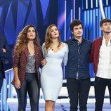Carlos, Marilia, Miki y Julia de 'OT 2018', junto a Roberto Leal, nominados de la Gala 7