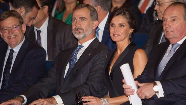 Los Reyes Felipe y Letizia presidiendo la Noche de la Economía Valenciana 2018