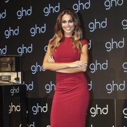 Lara Álvarez en un evento de una marca de productos de cabello