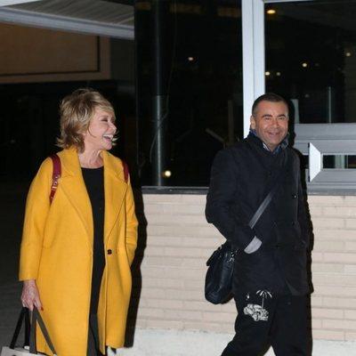 Mila Ximenez y Jorge Javier Vázquez en el cumpleaños 45 de Belén Esteban