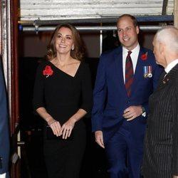 Los Duques de Cambridge llegando al Festival of Remembrance 2018