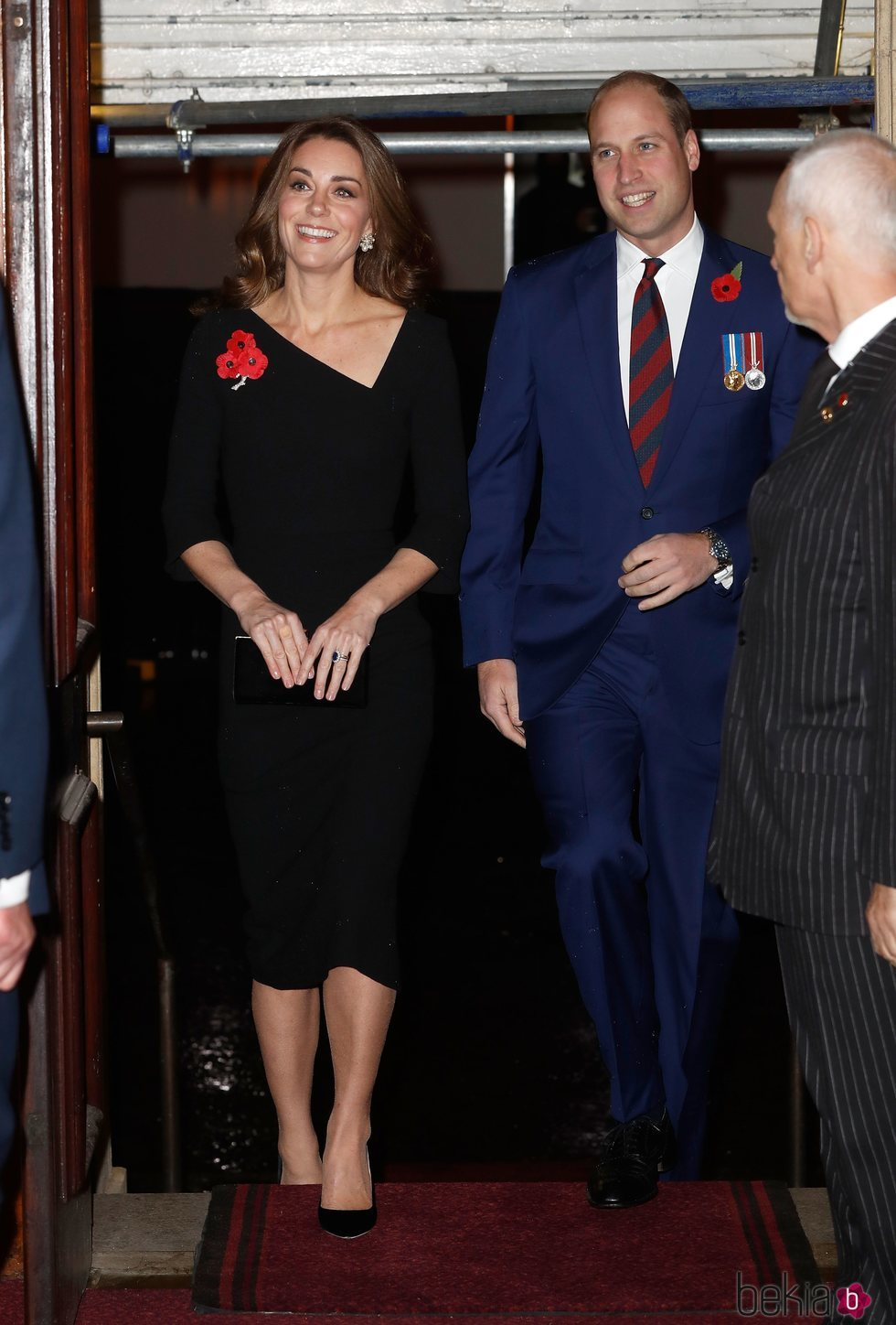 Los Duques de Cambridge llegando al Festival of Remembrance 2018