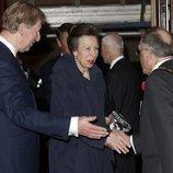 La Princesa Ana de Inglaterra llegando al Festival of Remembrance 2018