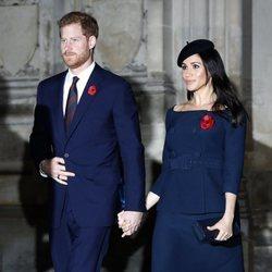 El Príncipe Harry y Meghan Markle en la misa por el centenario del final de la I Guerra Mundial