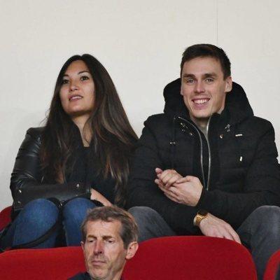 Louis Ducruet y Marie Chevallier durante un partido de fútbol