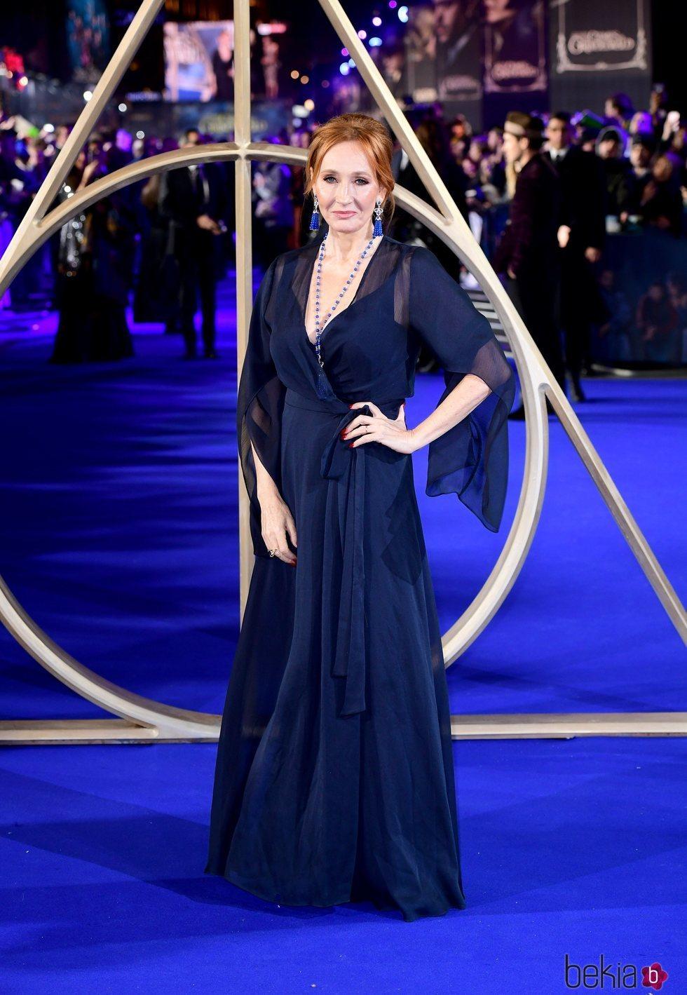 J. K. Rowling en el estreno de 'Animales Fantásticos: Los Crímenes de Grindelwald'