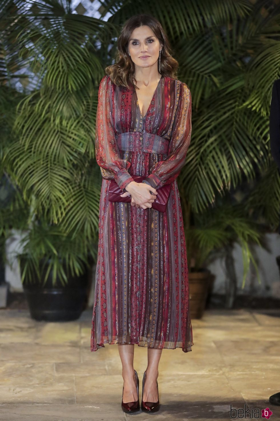 La Reina Letizia en la Embajada de España en Perú