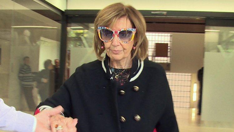 María Teresa Campos visitando a Terelu Campos tras su segunda intervención