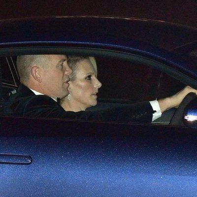 Zara Phillips y Mike Tindall en el 70 cumpleaños del Príncipe Carlos
