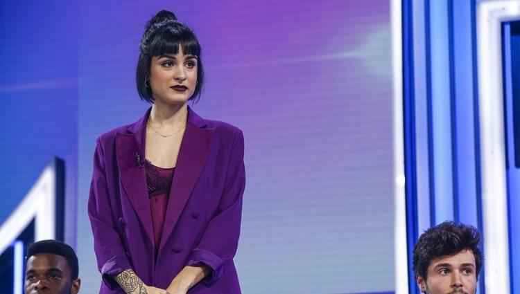 Natalia durante la valoración del jurado en la Gala 8 de 'OT 2018'