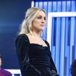 María durante la valoración del jurado en la Gala 8 de 'OT 2018'