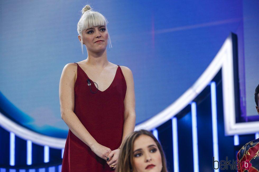Alba Reche durante la valoración del jurado en la Gala 8 de 'OT 2018'