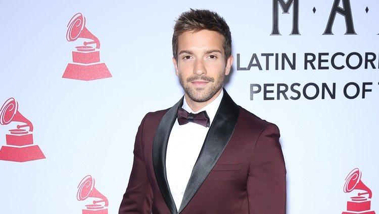 Pablo Alborán en la alfombra roja de la gala de Persona del Año de los Grammys Latinos 2018