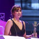 Sandra Sabatés recogiendo su galardón en los Premios Ondas 2018