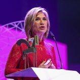 Julia Otero recogiendo su galardón en los Premios Ondas 2018