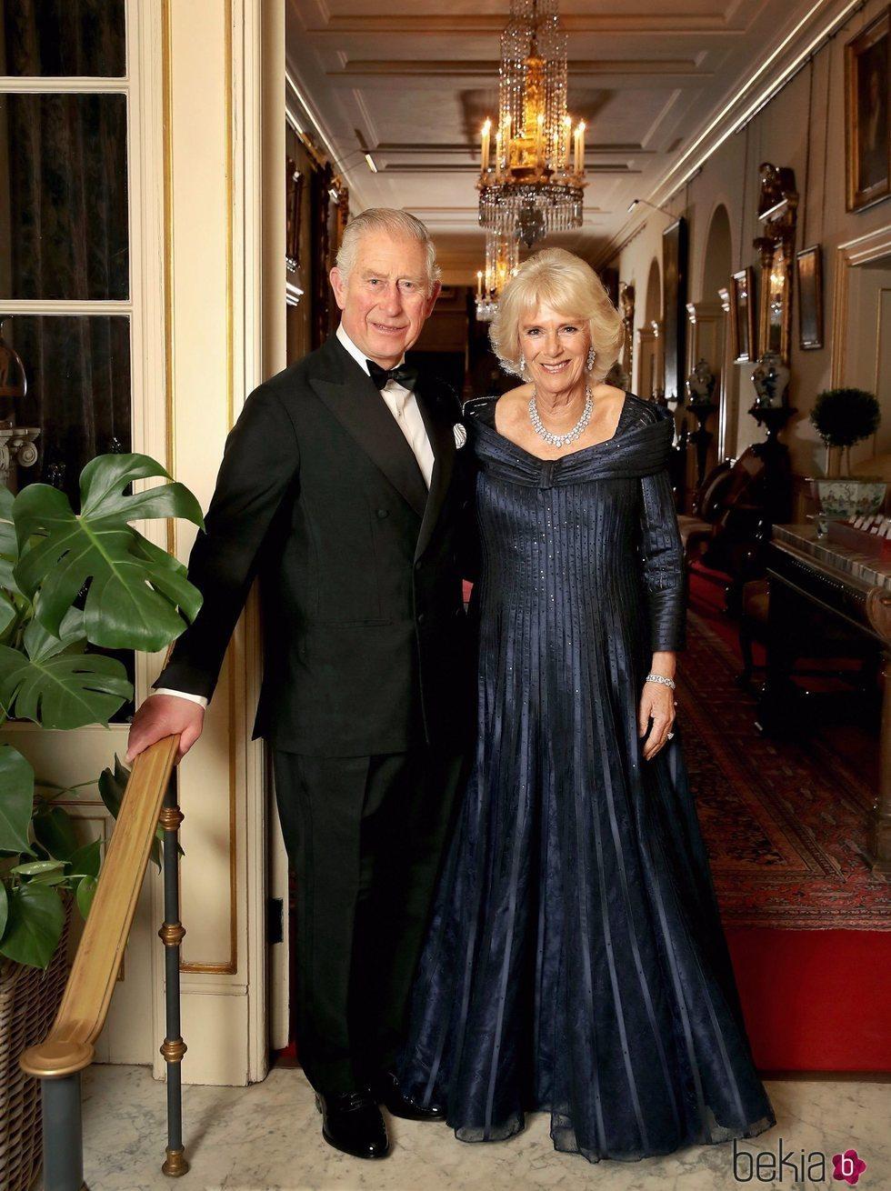 El Príncipe Carlos y Camilla Parker en el 70 cumpleaños del Príncipe de Gales