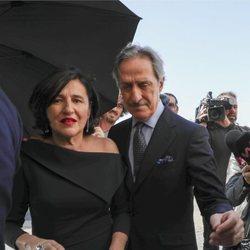 Roberto Torretta y su esposa en la boda de Marta Ortega y Carlos Torretta