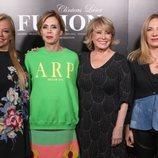 Mila Ximénez, Agatha Ruiz de la Prada, Belén Estaban y Belén Rodríguez posando