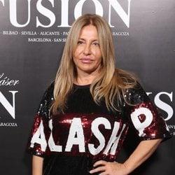 Cristina Tárrega en un evento con un look de lentejuelas