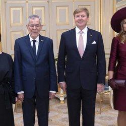 Los Reyes Guillermo Alejandro y Máxima de Holanda reciben al Presidente de Austria