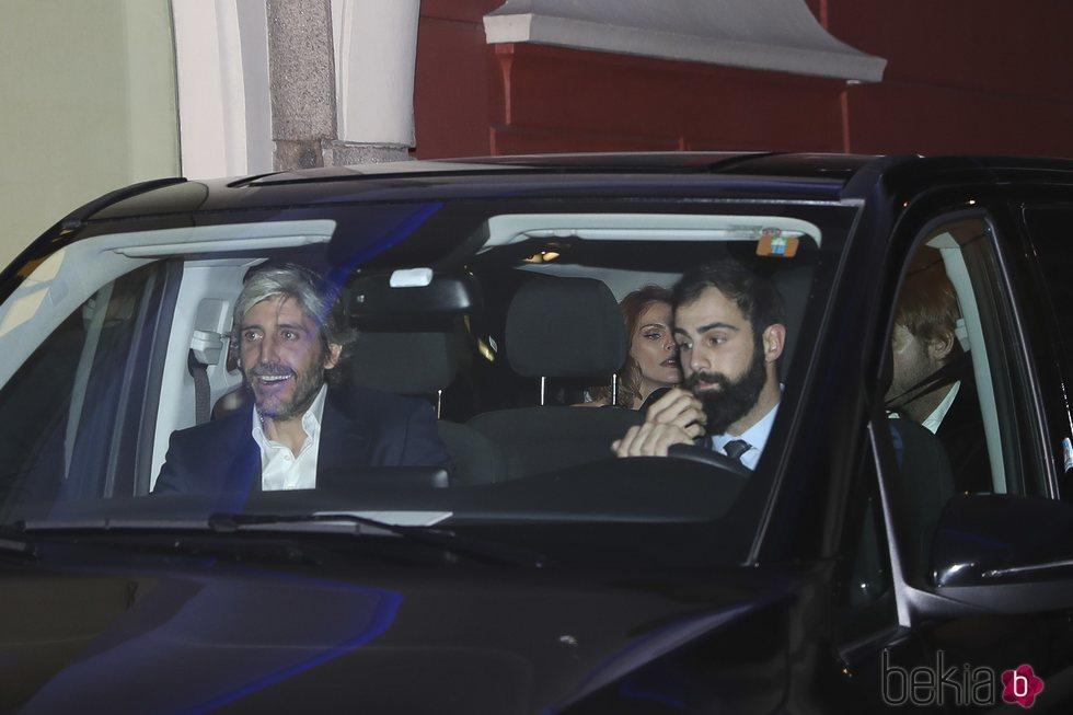 Alfonso de Borbón acudiendo a la boda de Marta Ortega y Carlos Torretta