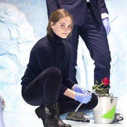 Ingrid Alexandra de Noruega en el acuario Polaria