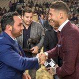 Sergio Ramos recibiendo galardón de la SICAB 2018