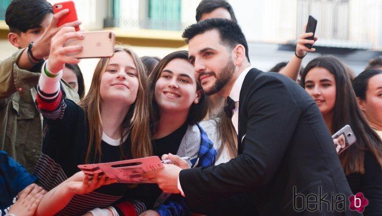 Fran Perea durante el Festival de Málaga 2018